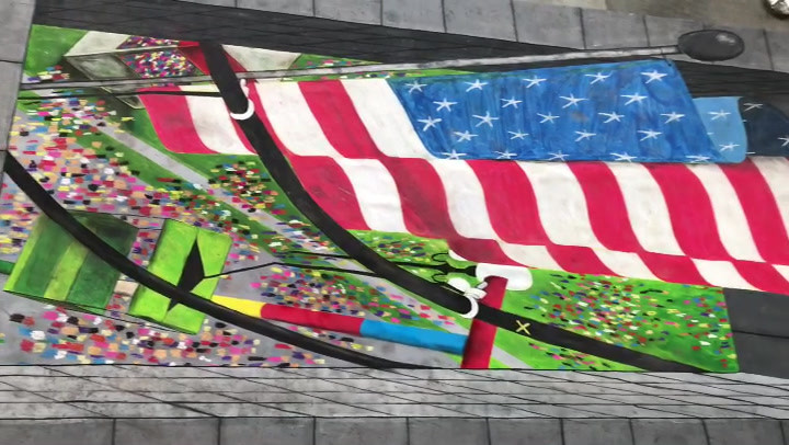 Iowa State Fair 2019_3D Chalk ARtist Kat
