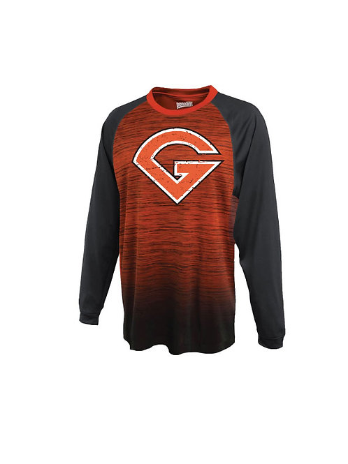 Distressed Grit Long Sleeve T-Shirt