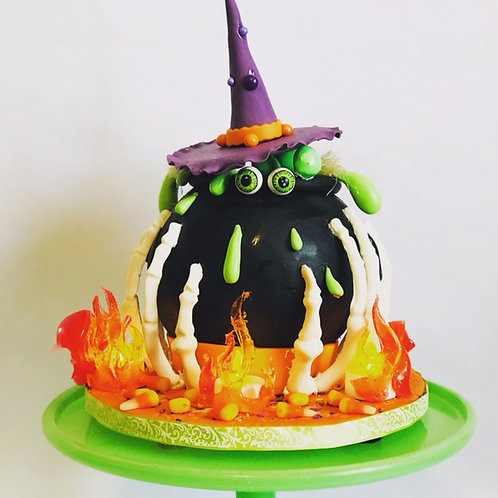 Halloween Cauldron Cake Tutorial