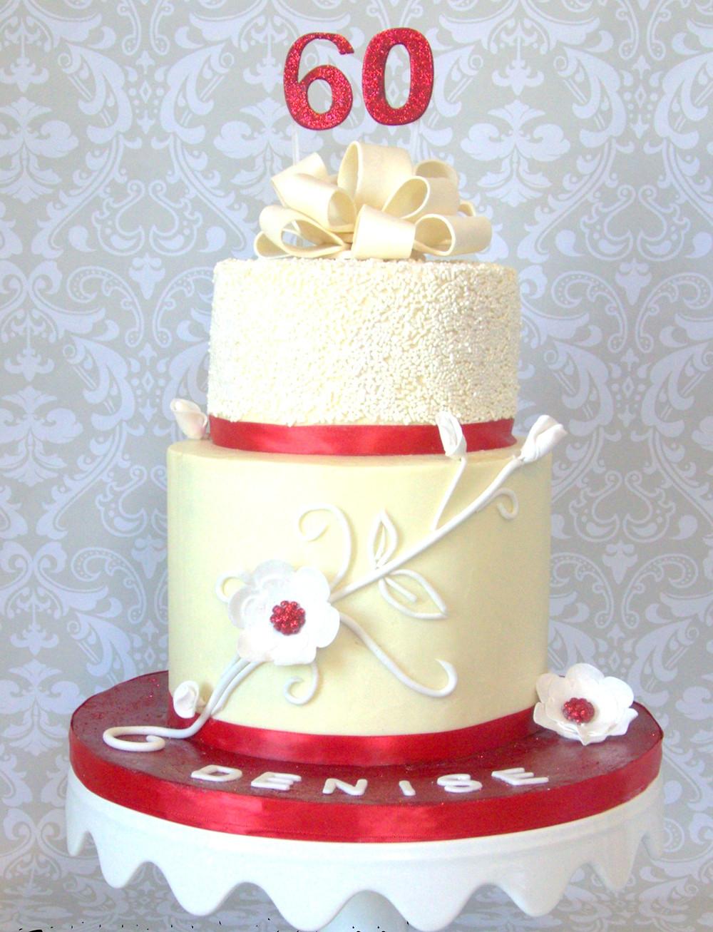 2 tier white chocolate ganache cake