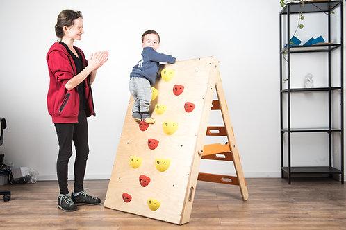 קיר טיפוס מתקפל לקטנטנים - Toddlers foldable climbing wall