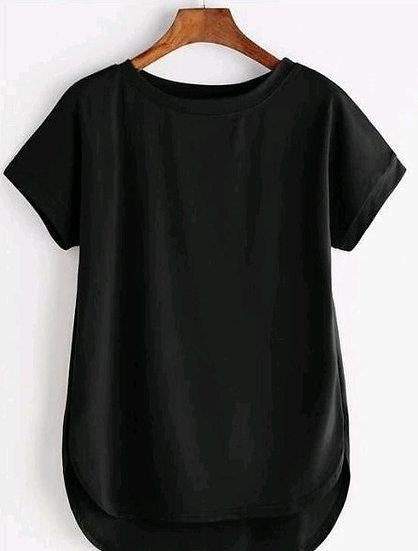 Wondrous Premium Solid Cotton T-shirt - Black