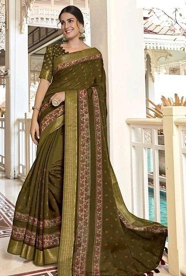 Beauteous Premium Art Silk Saree - Green