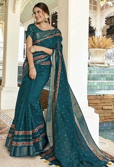 Beauteous Premium Art Silk Saree - Dark Green