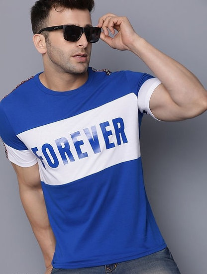 Exclusive Men's Cotton T-Shirt - Blue
