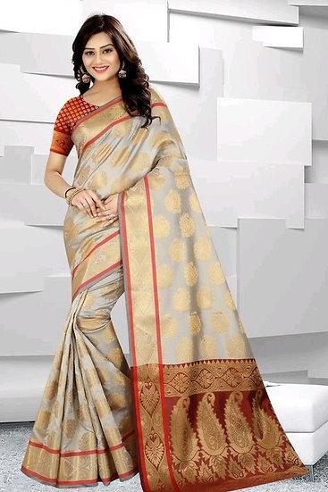 Comely Premium Zari Work Banarasi Silk Saree - Pattern 5