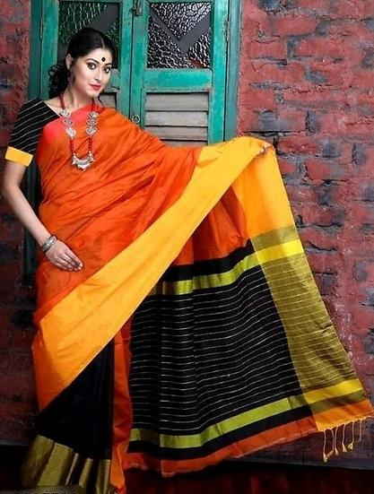 Fascinating Women Silk Cotton Saree - Multiprint