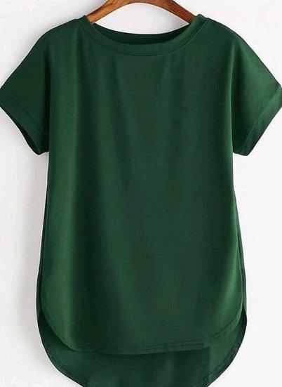 Wondrous Premium Solid Cotton T-shirt - Green
