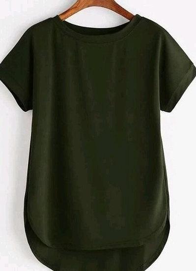 Wondrous Premium Solid Cotton T-shirt - D Green