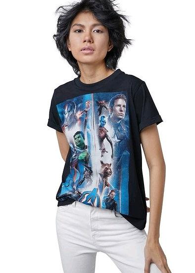 Official Avengers  Black Women  T-Shirt