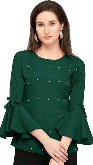 Ravishing Rayon Designer Top - Green