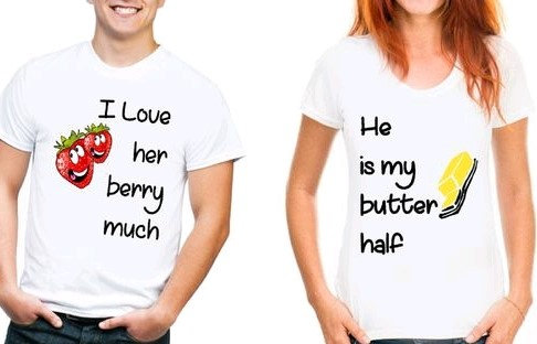 Lovely Couple Tshirts - Butter Half & Berry Much