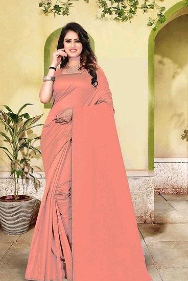 Dazzling Premium Cotton Silk Saree - Orange