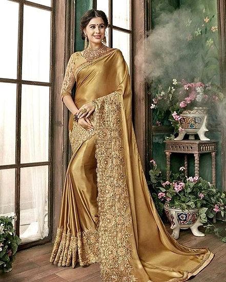 Gracious Premium Embroidered Vichitra Silk Saree