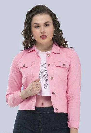 Gracious Cotton Women's Crop Jacket / Waistcoat - Pink