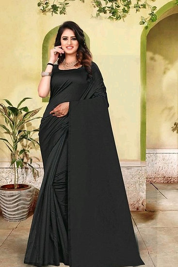 Dazzling Premium Cotton Silk Saree - Black