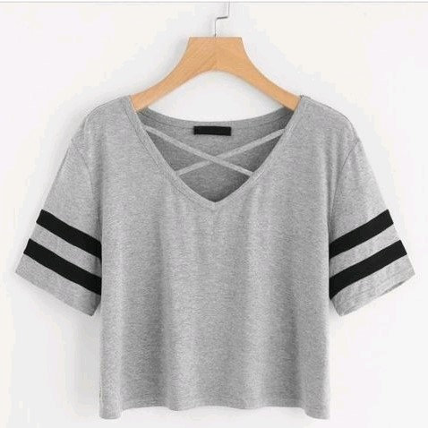 Stunning Women's Designer Cotton Top - Grey