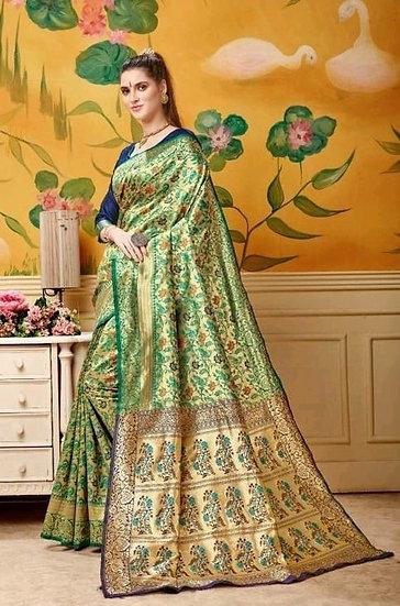 Dazzling Soft Silk Self Designed Jacquard Saree
