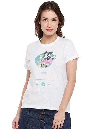 Disney X Zilingo Women's T-shirt - White Ice Cream