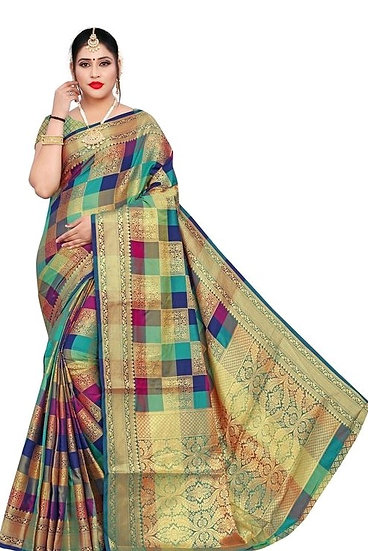 Gracious Banarasi Patola Style Woven Zari Work Saree