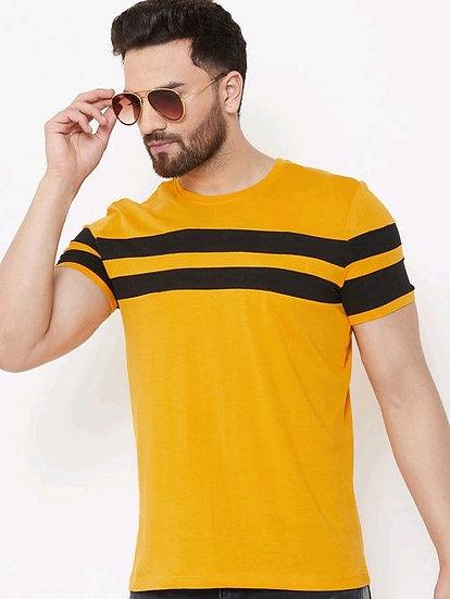 Flamboyant Men's Cotton Tshirt - Yellow