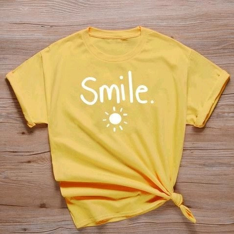 Comely Solid Cotton Women's Tshirts - Yellow