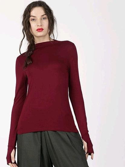 Exquisite Long Arm Solid Sweatshirt / Tshirt - Maroon