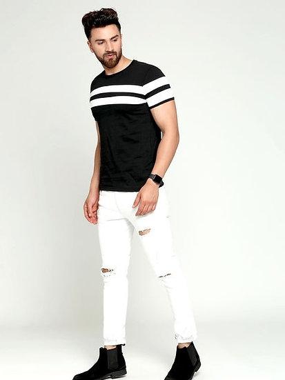 Flamboyant Men's Cotton Tshirt - Black
