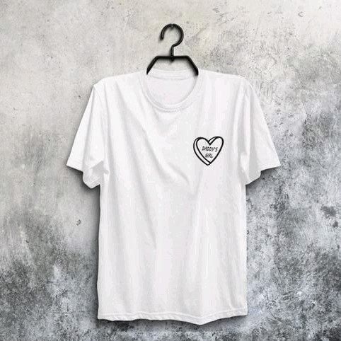 Comely Premium Cotton Solid Tshirt For Women - White Heart