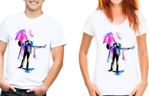 Lovely Couple Tshirts - Umbrella