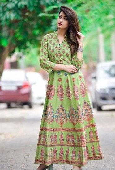 Flamboyant Women's Cotton Designer Kurti