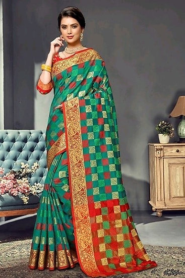 Wondrous Premium Kanjeevaram Silk Saree - Green