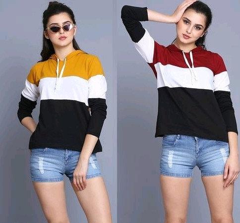 Comely Women  Sweatshirt / Hoodies - Pack Of 2 - Yellow & Green