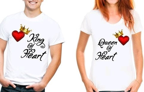 Exquisite Premium Couple T-shirts (King/Queen Of Heart)