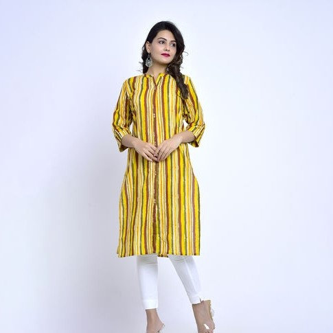 Ethereal Cambric Cotton A-line Kurti