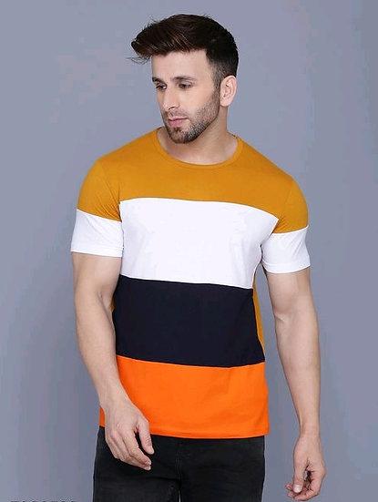 Flamboyant Men's Cotton Tshirt - Mustard