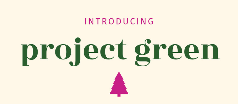 Introducing Project Green: 1 Scheduled Photoshoot = 10 Planted Trees!