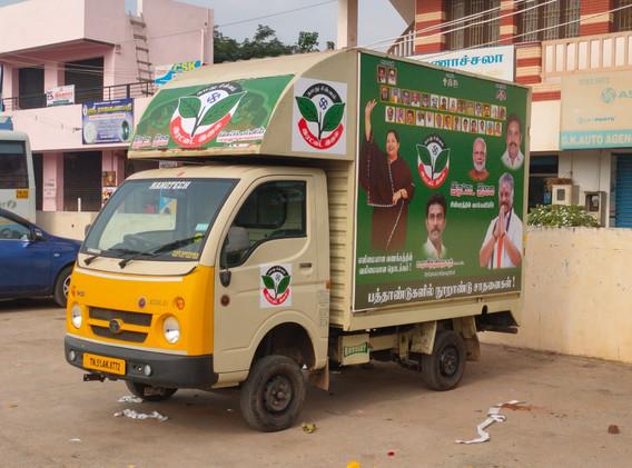 election-promotion-van-in-tamil-nadu