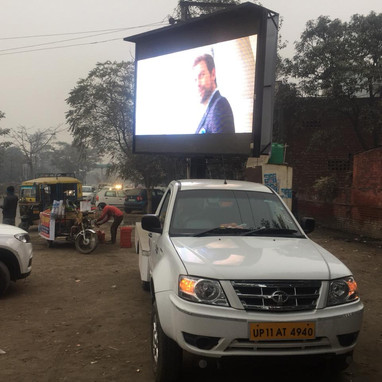 led advertising screen by brand compass