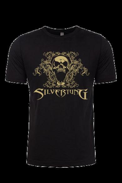 Khaki Filigree Skull Men's T-shirt