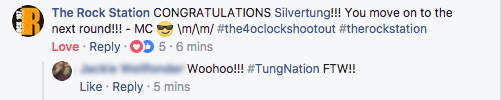 Congratulations Silvertung!!!