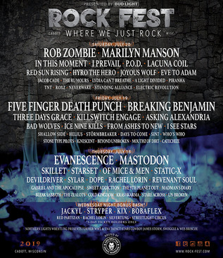 Rock Fest Releases 2019 Lineup