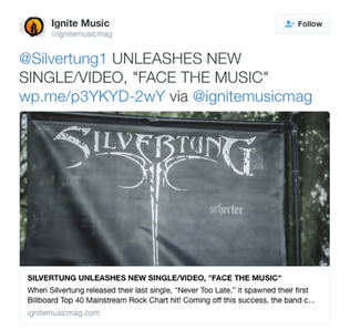 SILVERTUNG UNLEASHES NEW SINGLE/VIDEO, DzFACE THE MUSICdzPosted by IgniteMusicMag.com