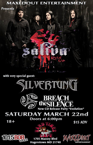 March 22nd show with Saliva