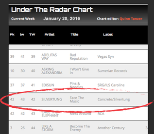 """Face The Music climbing """"Under The Radar"""" radio chart! Posted by RadioContraband.com"""