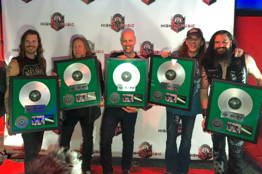 Every Mother's Nightmare (EMN) with their first record award!