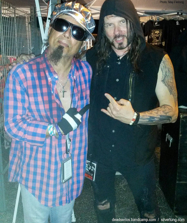 Christopher Long (Show Biz Guru) and Silvertung vocalist Speed