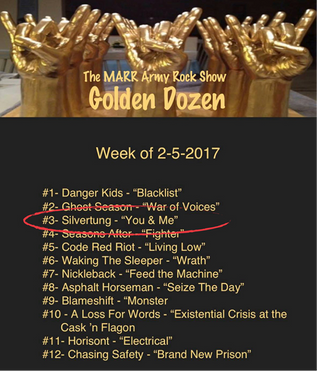 MARR Army Rock Show Golden Dozen for the week of 2-5-17