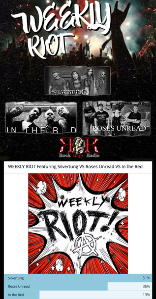 "Silvertung's ""You & Me"" Rock Rage Radio Weekly Riot Champ!"