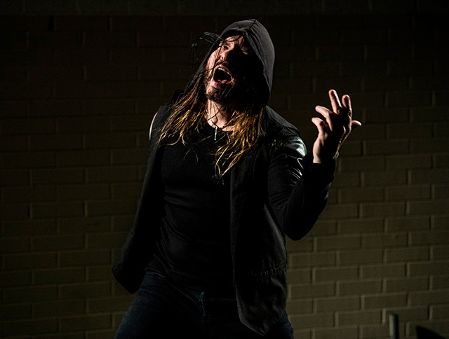 Silvertung lead vocalist Speed on the set of their new video.